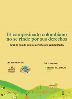 Gráfica alusiva a El campesinado colombiano no se rinde por sus derechos. ¿Qué ha pasado con los derechos del campesinado?
