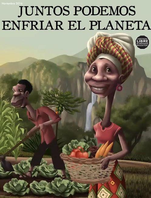 Gráfica alusiva a Historieta ¡Juntos podemos enfriar el planeta!
