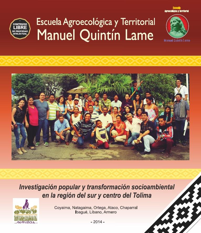 Gráfica alusiva a Escuela Agroecológica y Territorial Manuel Quintín Lame.