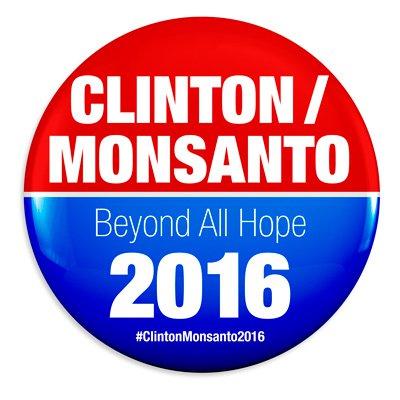 Grafica alusiva a Al Grano: Hillary Clinton, salpicada de Monsanto