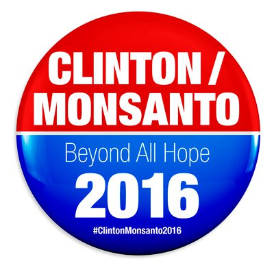 Gráfica alusiva a Al Grano: Hillary Clinton, salpicada de Monsanto
