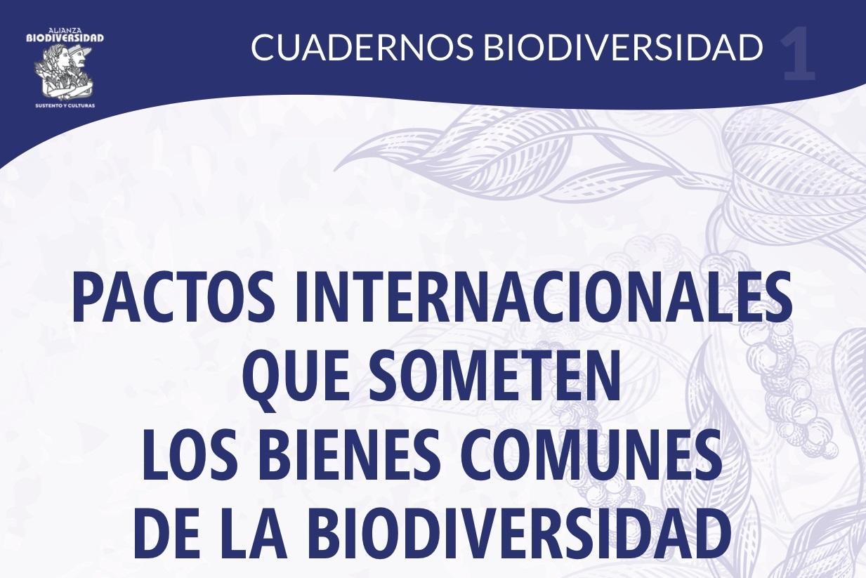 Gráfica alusiva a Cuadernos Biodiversidad para defender nuestras semillas