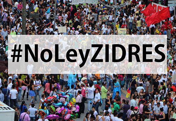 Gráfica alusiva a Intervención ciudadana frente a la Ley ZIDRES